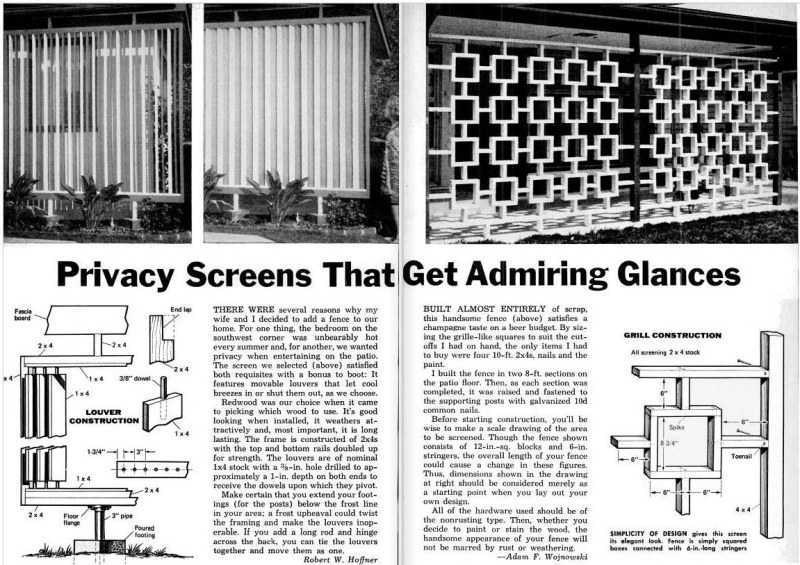 How To Make Wooden Outdoor Privacy Screens