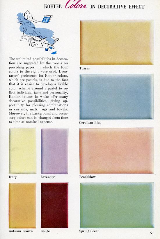 Kohler Toilet Colors : The Bold Look of KOHLER Mid-Century Living