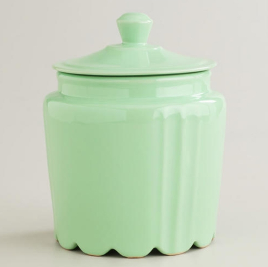 Green Kitchen Canisters: Cost Plus World Market Goes Retro